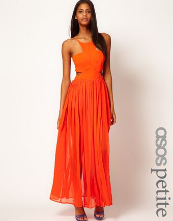 Asos Maxi Dress with Strappy Back - Lyst
