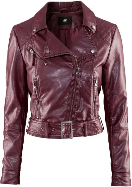 H&m Jacket in Purple (burgundy) - Lyst