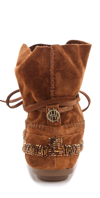 House Of Harlow 1960 Madison Beaded Moccasins In Brown Lyst