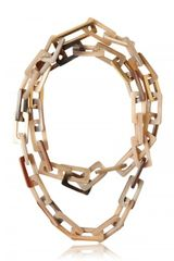 Maiyet Natural Horn 18kt Gold Plated Necklace - Lyst