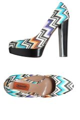 Missoni Platform Pumps in Multicolor (sky) - Lyst
