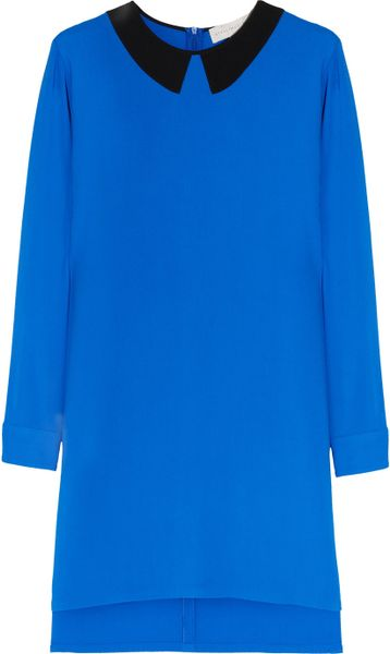 Stella Mccartney Duke Stretch Cady Dress in Blue - Lyst