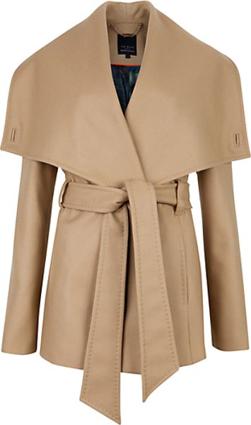 Ted Baker  Matild Wrap Coat  in Beige