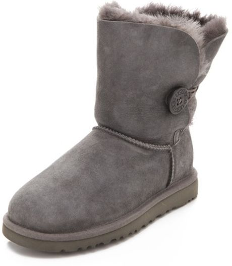 gray uggs boots with buttons
