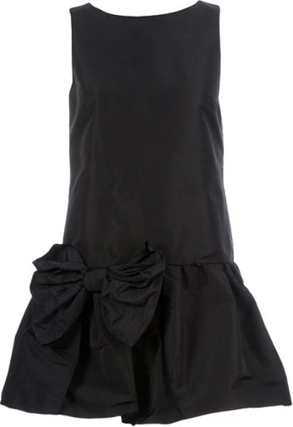 Valentino Sleeveless Bow Dress in Black - Lyst