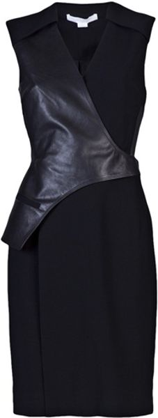 Alexander Wang Leather Vest Dress in Black - Lyst