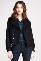 Burberry Brit Short Double Breasted Jacket - Lyst