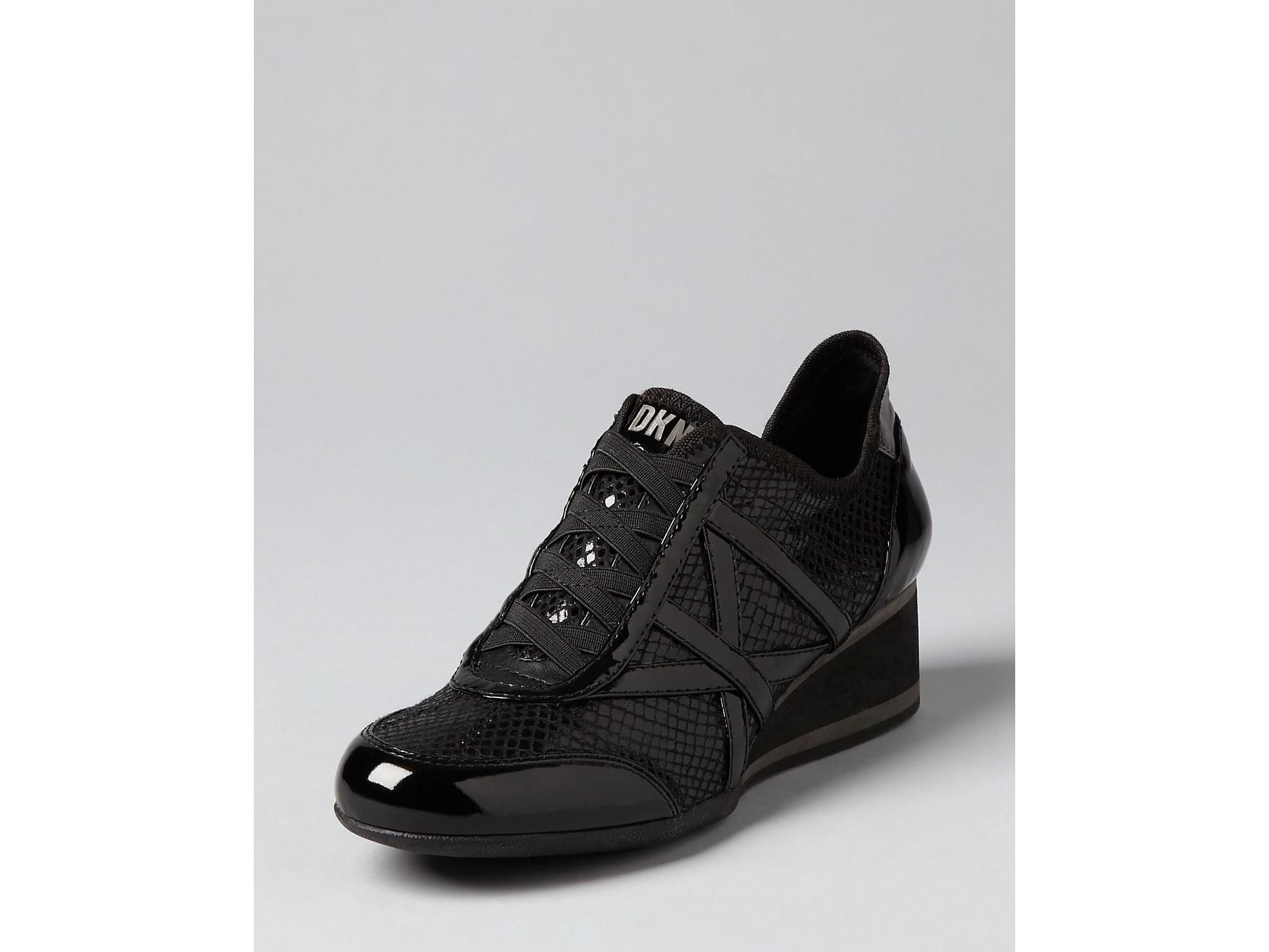 Dkny Lace Up Sneakers Regina In Black Lyst