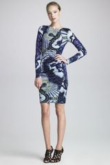 Emilio Pucci Contour Ruched Long Sleeve Dress - Lyst
