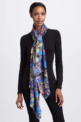 Erdem Doublesided Silk Scarf - Lyst