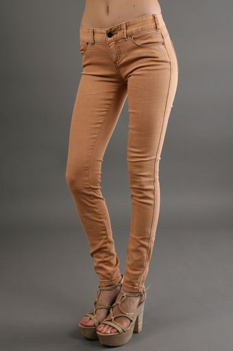 Free People Colored Skinny Pant in Rust - Lyst