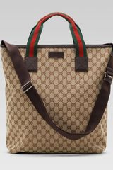 Gucci Signature Web Tote Bag - Lyst