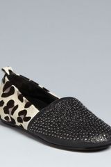 House Of Harlow Snow Leopard Loafer Flats - Lyst
