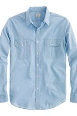 J.Crew Slim Heathered Utility Shirt - Lyst