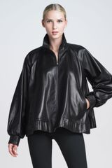 Jean Paul Gaultier Zip Front Leather Poncho Jacket - Lyst