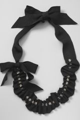 Lanvin Gathered Grosgrain Ribbon Necklace - Lyst
