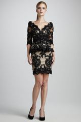 Mandalay Sequined Lace Peplum Dress - Lyst