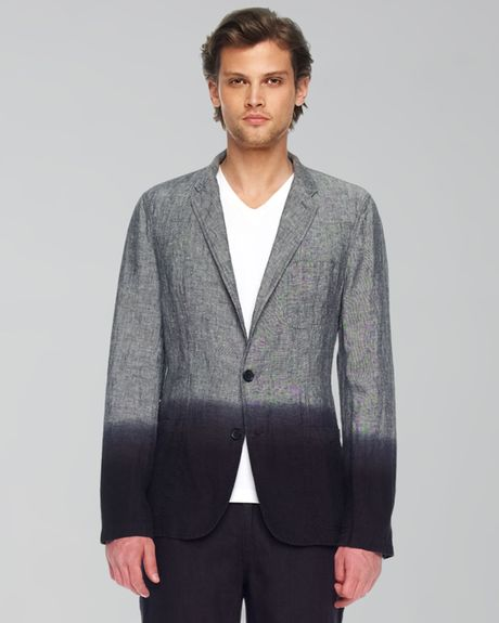 Michael Kors Dipdye Linen Blazer in Black for Men - Lyst