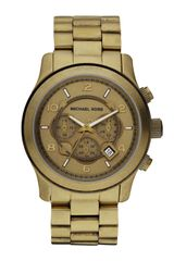 Michael Kors Oversized Runway Chronograph Watch Bronze - Lyst