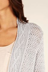 Oasis Casual Sparkle Cable Cardi in Gray (light grey) - Lyst