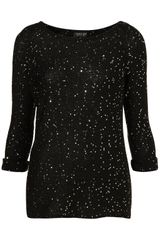Topshop Knitted Sequin Jumper - Lyst