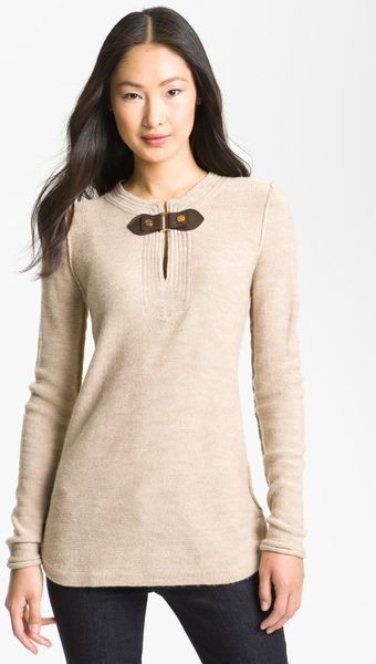 Tory Burch Mim Sweater Tunic in Beige (bisque) - Lyst