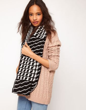 Asos Block Check and Houndstooth Snood - Lyst