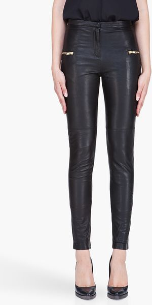 By Malene Birger Black Leather Sefora Pants - Lyst