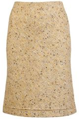 Carven Tweed Pencil Skirt - Lyst