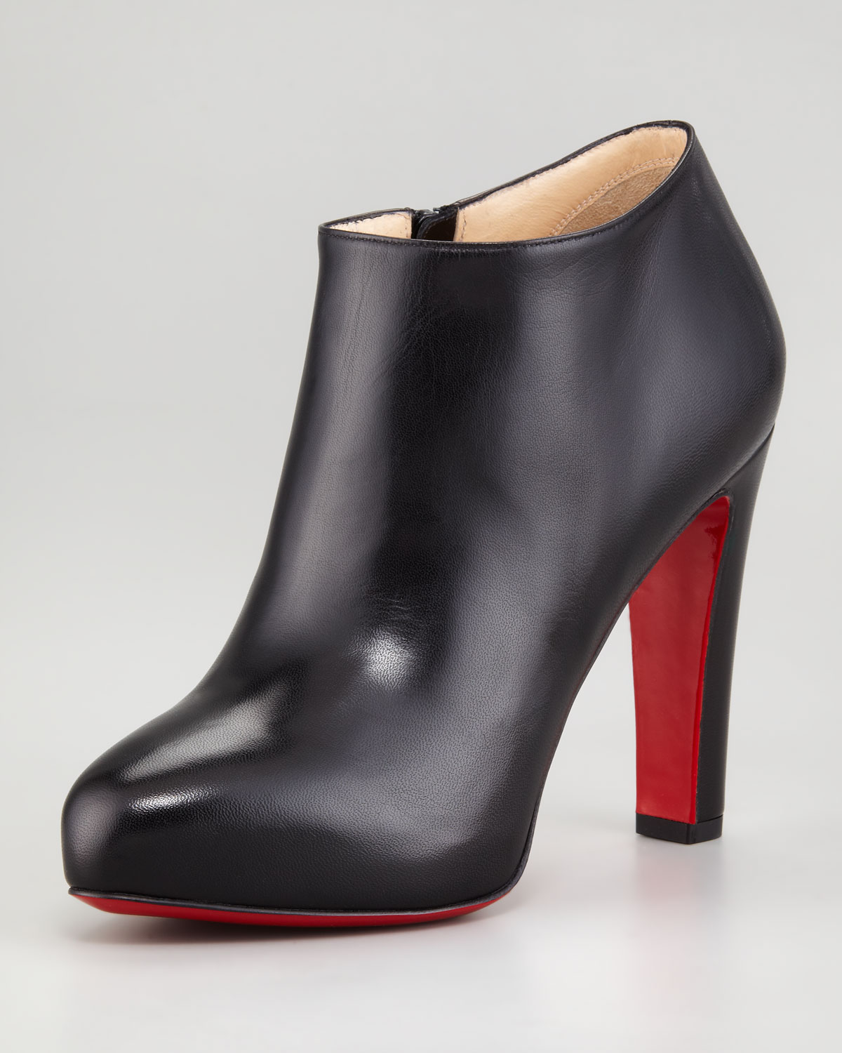 f367ffa5701b Christian Louboutin Vicky Napa Ankle Bootie in Black - Lyst