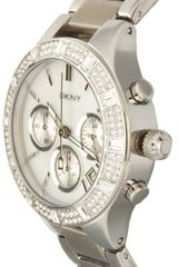 Dkny  Chronograph Watch in Silver - Lyst