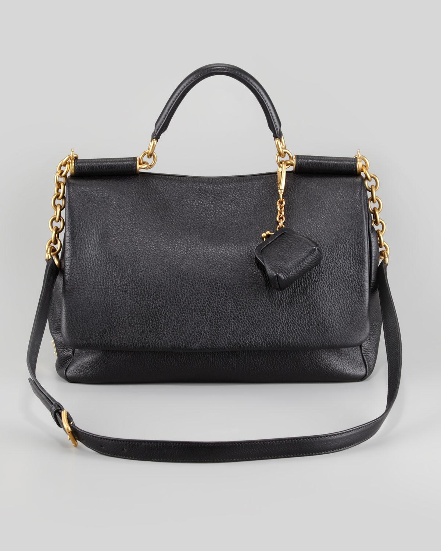 afd48b9cb6 Lyst - Dolce   Gabbana Soft Miss Sicily Satchel in Black