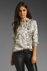 Equipment Slim Signature Python Blouse - Lyst