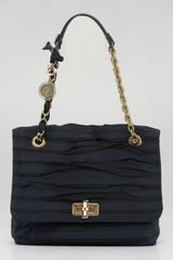 Lanvin Grosgrain Happy Shoulder Bag Noir - Lyst