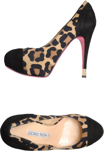 Luciano Padovan Platform Pumps in Animal (sand)