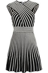 M Missoni Two Tone Knitted Dress in White (black) - Lyst