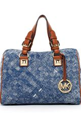Michael by Michael Kors Grayson Woven Medium Satchel - Lyst