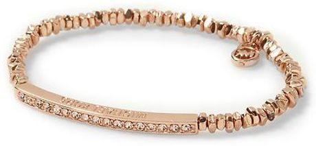 Michael Kors Spring Sparkle Bracelet in Gold (rose gold) - Lyst