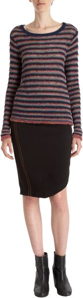 Rag & Bone Raj Pencil Skirt in Black (copper) - Lyst
