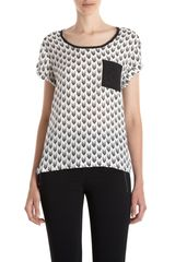 Rag & Bone Arrow Pattern Pocket Tee in White - Lyst