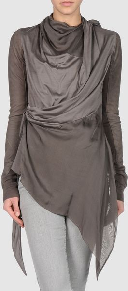 Rick Owens Leather Outerwear - Lyst