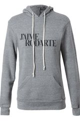Rodarte Love Hate Hooded Sweatshirt