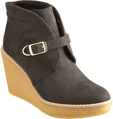 Stella Mccartney Wedge Ankle Boot in Black - Lyst