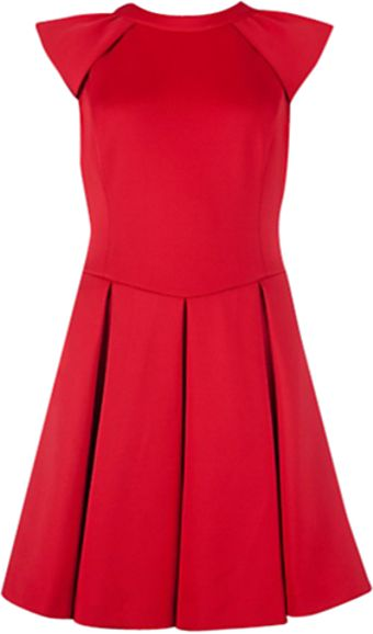 Ted Baker Ted Baker Kipp Dress Brick Red - Lyst
