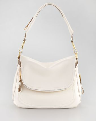 Tom Ford Large Jennifer Flaptop Bag Ivory - Lyst