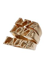 Topshop Live Love Laugh Ring Set in Gold - Lyst