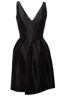 Z Spoke by Zac Posen Pre Collection Taffeta Dress Black - Lyst
