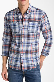 7 Diamonds In The Mood Plaid Woven Shirt - Lyst