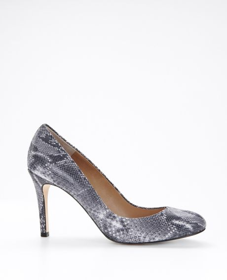Ann Taylor Perfect Pump Mini Python in Gray (graphite heather) - Lyst
