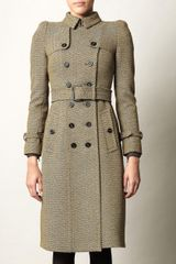 Burberry Prorsum Bowback Herringbone Trench Coat - Lyst